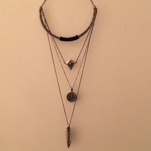 Free people four layer necklace